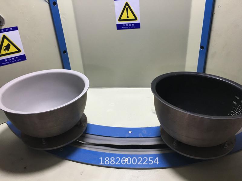 电饭锅转盘式自动喷砂机